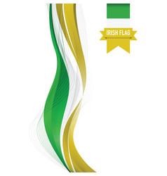 ireland flag background vector image vector image