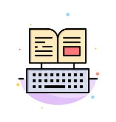 Key keyboard book facebook abstract flat color vector