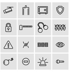 line security icon set vector image