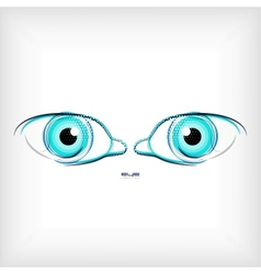 lines eye concept vector image