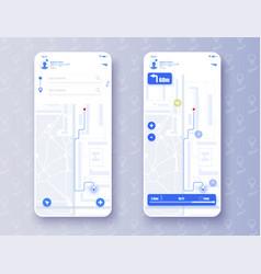 map gps navigation smartphone application icon vector image