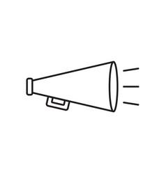 Megaphone flat icon bullhorn symbol logo vector