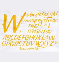 Modern alphabet orange color vector