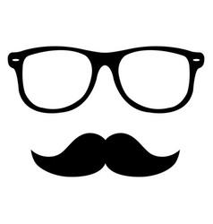Moustache and sunglasses flat icon symbol vector