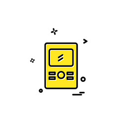 mp3 player icon design vector image