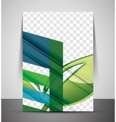 Nature corporate flyer print template vector image vector image