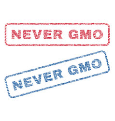 Never gmo textile stamps vector