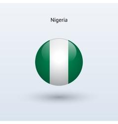 Nigeria round flag vector image