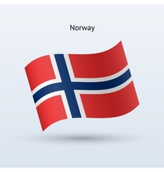 Norway flag waving form vector image