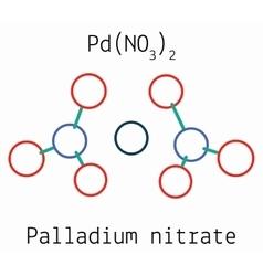 Palladium nitrate PdN2O6 molecule vector