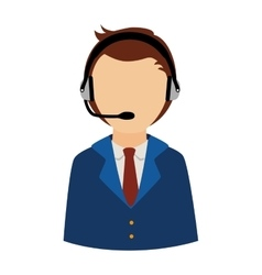 Person operator headset service assistant support vector