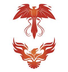 Phoenix emblems vector