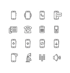 Phone telephone smartphone devices and vector image