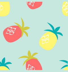 pineapple seamless pattern background vector image