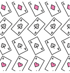 Poker card pattern background vector