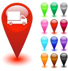 Road arrows button vector image