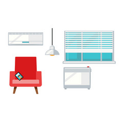 room with armchair and window vector image