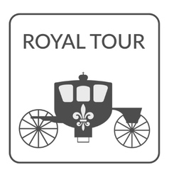 Royal tour sign vector