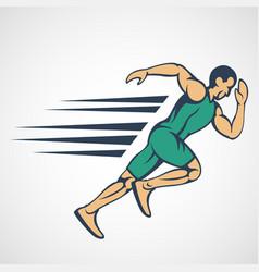 Run running man icon logo vector
