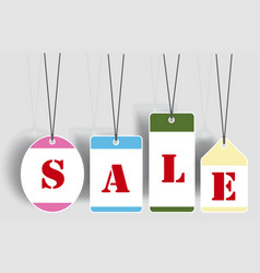 Sale tags labels vector