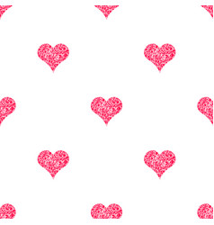 seamless pattern for scrapbooking with hearts vector image