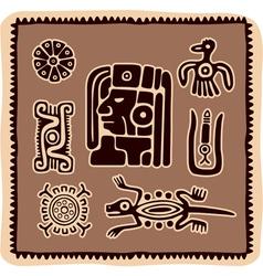 Set of mexican design elements vector