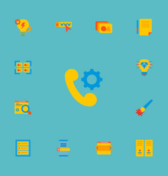 Set of website development icons flat style vector