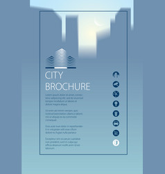 simple minimalistic city skyline traveling vector image