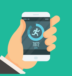 smartphone fitness tracker app - lose weight vector image