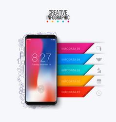smartphone infographic presentation vector image