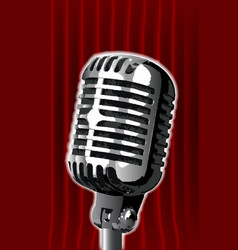 Stand up night microphone vector