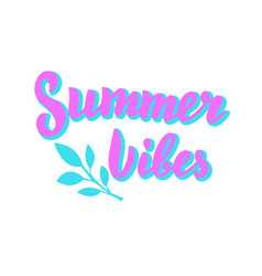 summer vibes trendy poster holiday beach party vector image