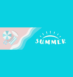 summer wide banner with summer logo concept vector image