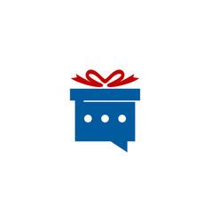 talk gift logo icon design vector image