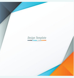 template design orange blue gray vector image