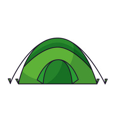 Tent camping on white background vector