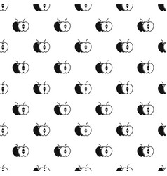 The whole apple and half pattern vector