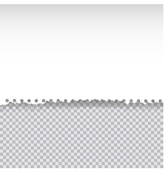 torn paper on transapency background vector image