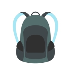 Touristic backpack icon vector