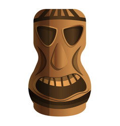 tribal idol icon cartoon style vector image