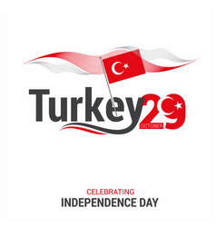Turkey independence day design card vector