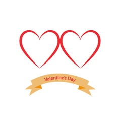 Valentines Day hearts on a white background vector image