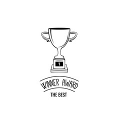 winner cup icon winner award champion s symbol vector image