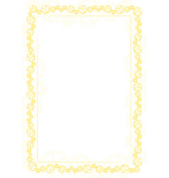 Yellow frame and border with gear-type mechanism vector