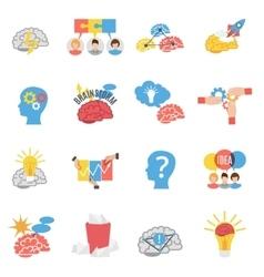 Brainstorm Creative Flat Icons Set vector image