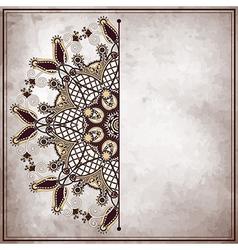 pattern on old paper vintage background vector image