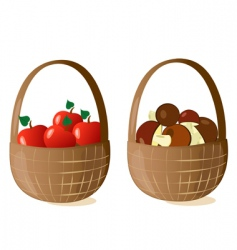 baskets filled vector image vector image