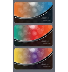Brochure business card banner abstract background vector image