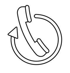 handset phone icon vector image