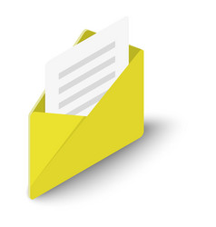 letter icon isometric style vector image